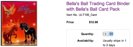 Samlemappe med Fiona og Thunder fra Bella's Ball