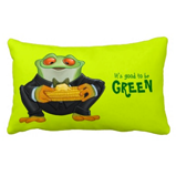 Cornfrog pillow