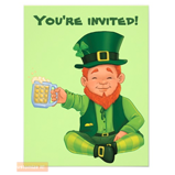 Leprechaun invitation