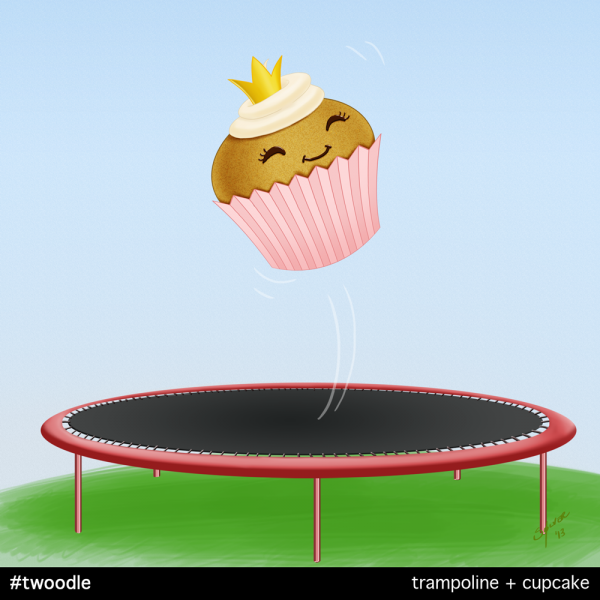 Twoodle: Trampolin + cupcake