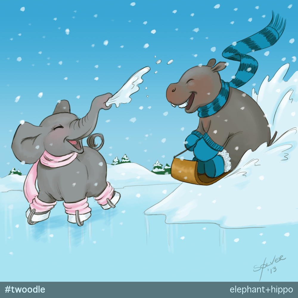 Elephant + Hippo #Twoodle