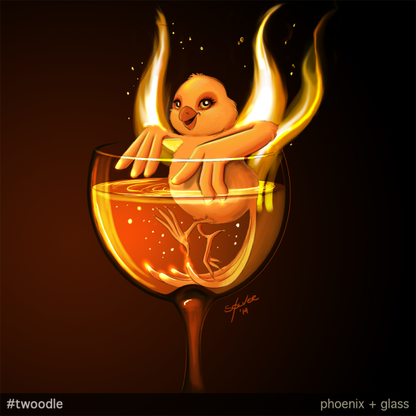 Twoodle: Glass + Phoenix